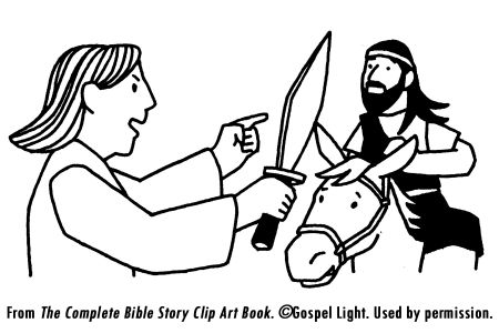 bible talking donkey coloring pages - photo#20