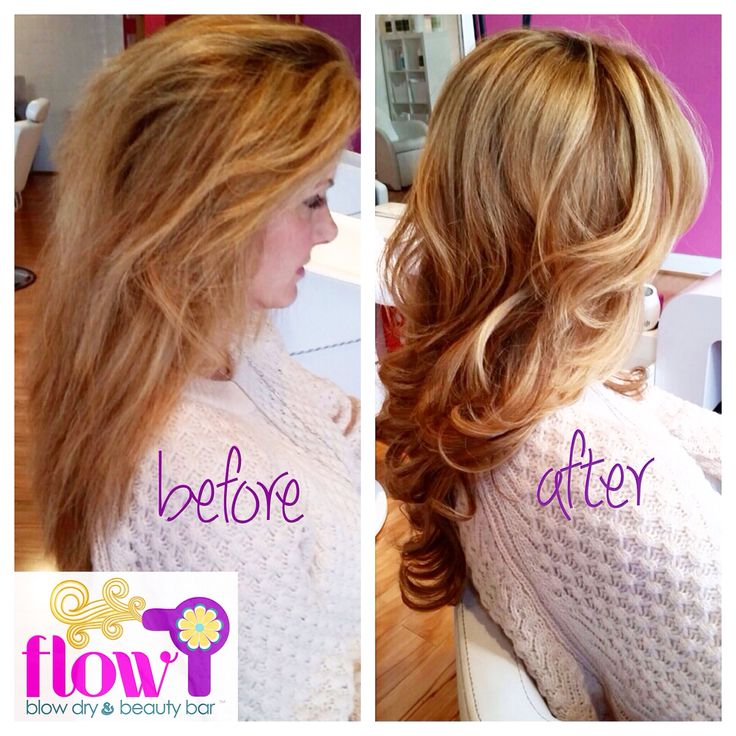 Before And After A Glam Calypso Blowout At FLOW Blow Dry Beauty Bar Flowblowdrybar Hair Hairstyle Blowdry Flow