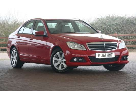 Used 2011 (61 reg) Red Mercedes-Benz C Class C220 CDI BlueEFFICIENCY SE Edition 125 4dr for sale on RAC Cars