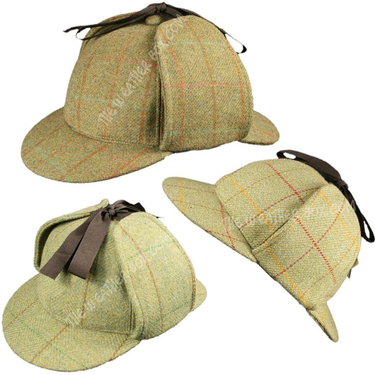 Casquette Chasse Sherlock Holmes Tweed 100% Laine Imperméable