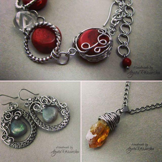 """Zdjęcie pod tytułem """"bawie sie filtrami"""" :D  #instagramjestsuper #wirewrap #wirewrapped #wirewrapping #kolczyki #bransoletka #wisiorek #recznierobione #rekodzielo #bizu #bizuteria #jewellery #jewelry #earrings #bracelet #pendants #handmadejewellery #handmade #agatarozanska"""