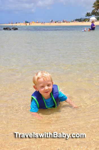 "Kauai's best beach with babies and toddlers? Hint: It's not called ""Baby Beach!"" Click to read all about it."