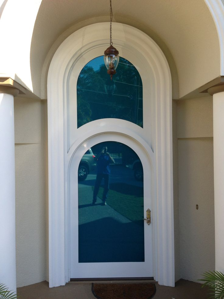installed photo residence in florida hollow metal door frame and transom panel by