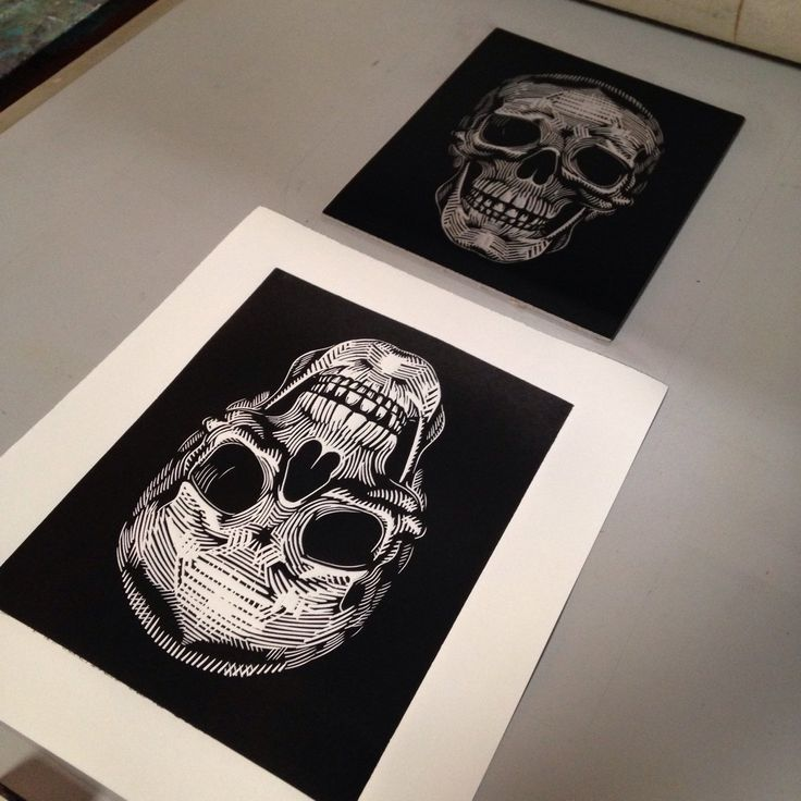 Whew - still working on the edition. Printing the linocut skull on my etching press. Edition of 50. #soniaromero