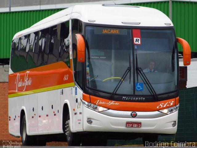 Ônibus da empresa Viação Vale do Tietê, carro 813 , carroceria Marcopolo Paradiso G7 1200, chassi Scania K310. Foto na cidade de São Paulo-SP por Rodrigo Coimbra, publicada em 04/11/2012 16:44:31.