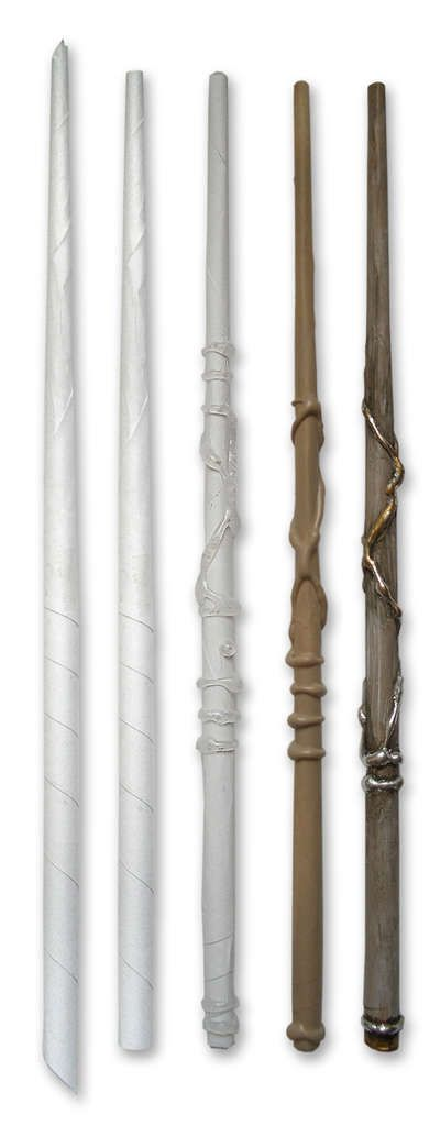 Make an awesome Harry Potter wand from a sheet of paper and glue gun glue. Fun crafts for all the kids who are fans of the Harry Potter books and movies!
