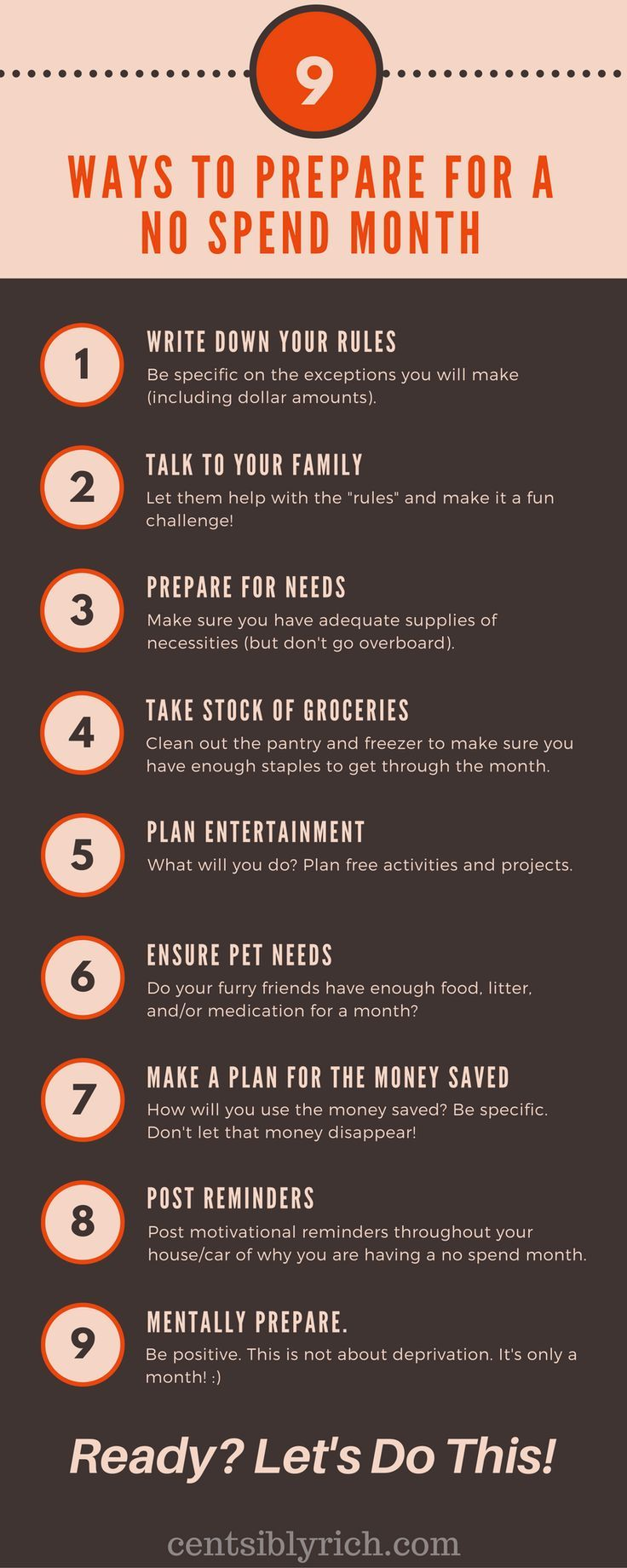 Join me for a No Spend Month! Here are some tips to help you prepare.