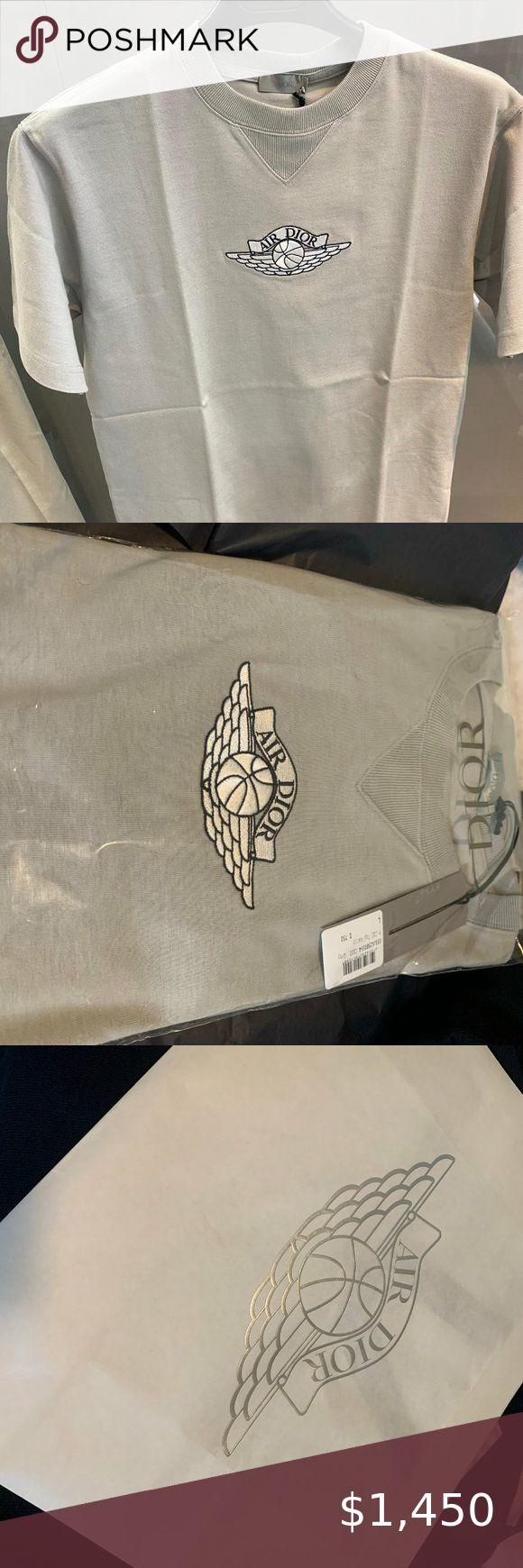 Air Dior Jordan Gray Tshirt in 2020 Dior store, Gray