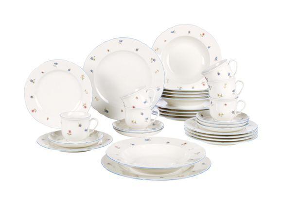 Aus Hochwertigem Porzellan Gefertigt, überzeugt Das Service Mit Design Und  Qualität. Das Geschirr In Weiß Ist In ...