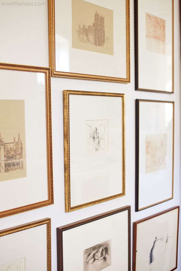 I love that the drawings are on the small side, but the mats are wide. It seems to give my eyes a chance to rest before getting to the next picture. Atchison Home | Framed Drawings
