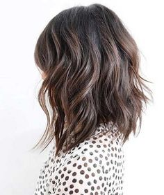 Dégradé effilé mi long - tendances cheveux 2016
