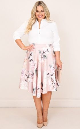 80197e0b00 Whirlwind midi skirt in blush floral | Fashion | Skirts, Midi Skirt ...