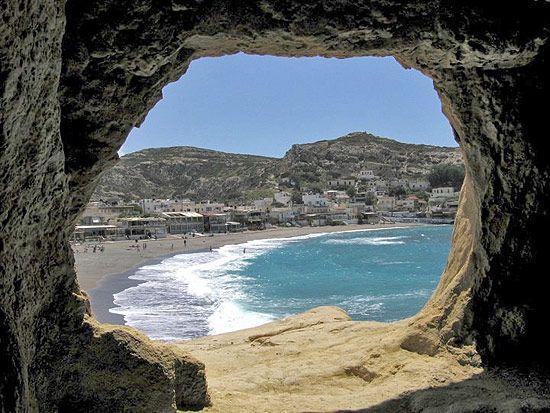 Matala Beach, Greece