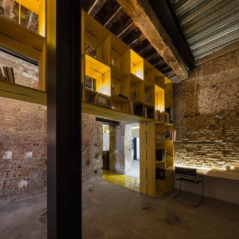 Saint Jerome 17 by CUAC Arquitectura is a #workspace and #office enclosed in #brick walls featuring wooden floors and #recycled elements #architecture