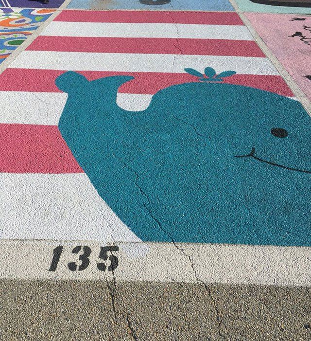 Some High Schools Let Seniors Creatively Paint Their Parking Spots Each Year…