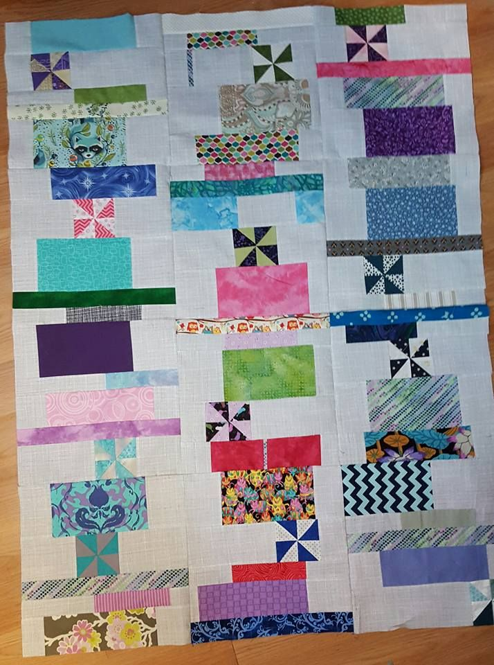 Stacks by Tula Pink, needs quilting