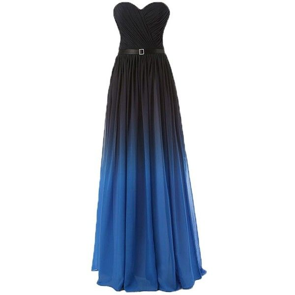 Eudolah New Gradient Colorful Sexy Ombre Chiffon Prom Dress Evening... ($70) ❤ liked on Polyvore featuring dresses, prom dresses, ombre dresses, multi coloured prom dress, ombre prom dresses and ombre chiffon dress
