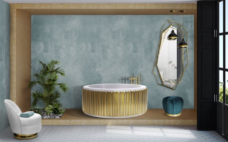 Inspired by asymmetrical and dazzling shapes of a Diamond rock, this mirror is the ultimate combination of geometry and design. The use of gold enhances the luxurious element within this object resulting in a sophisticatedyet, dynamic piece that stands out in any ambiance. A true revolution on mid-century modern design.