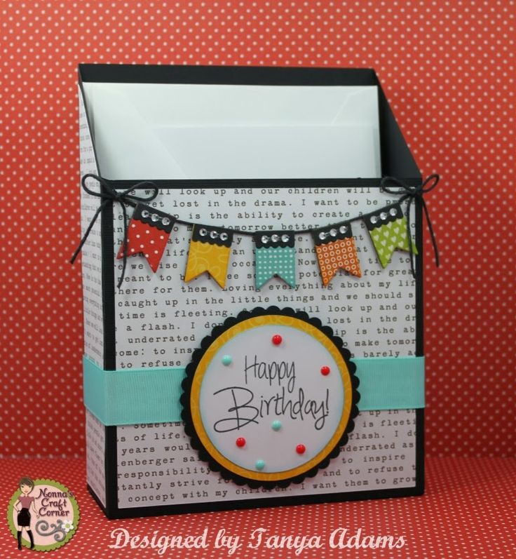 DT Post by Tanya - Cute Storage Box for Cards!