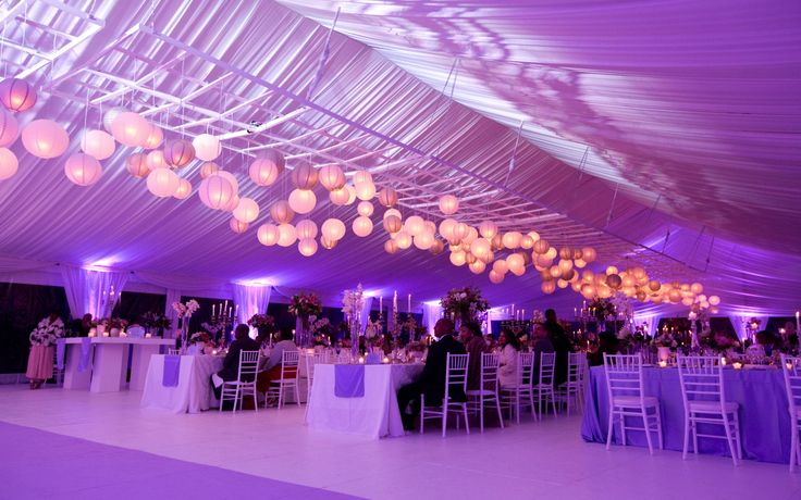 A grand marquee setting by Wedding Concepts with over 500 Chinese lanterns! #marquee #wedding #chineselanterns #luxury