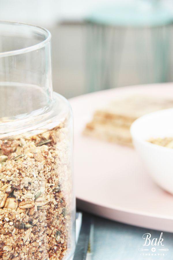 Healthy breakfast granola recipe - Baktherapie.nl