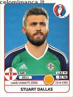 UEFA EURO 2016™ Official Sticker Album: Fronte Figurina n. 337 Stuart Dallas
