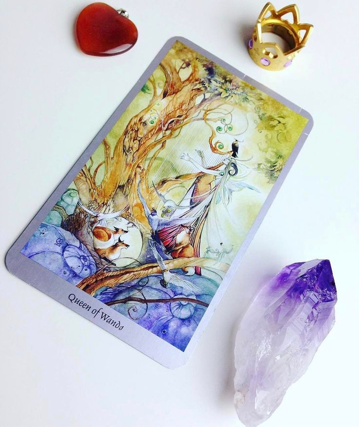 Daily #Tarot Reading for February 21: Queen of #Wands Today keep an eye out for a #warm #generous and #creative person in your life  is it you or someone else? (Often the Queens represent females but they can also be men. Kings are conquerors; Queens are creators.) Wands represent the element of #fire: the source of our #spirit creativity and #inspiration and the Queen of Wands has dominion over all of these. A #blackcat sits at her feet representing her #independence and her natural…