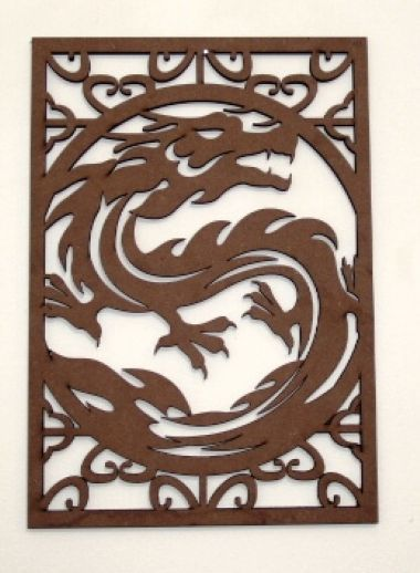 Escultura Dragão 1 MDF cru 350x245…