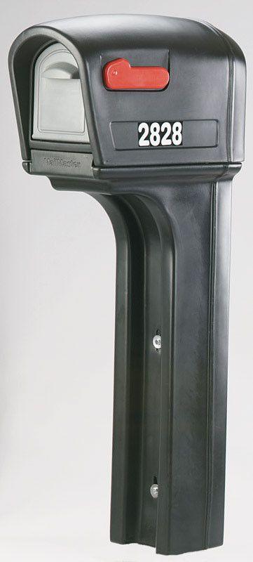 Step 2 50-1/2 in. H x 22 in. L Mailbox Black Plastic