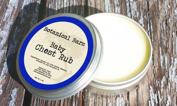 All Natural Baby Chest Rub  Baby Vicks  Baby by BotanicalBars
