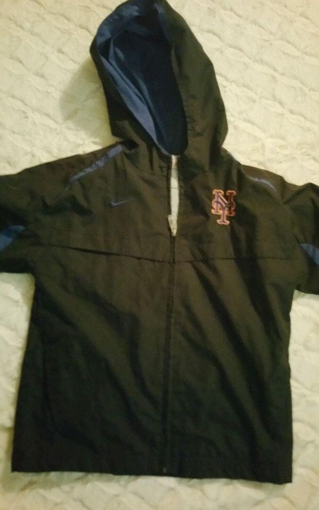 Nike METS  Team Apparel kids windbreaker size 5 coat with hood nwots ,NY Mets #Nike #NewYorkMets
