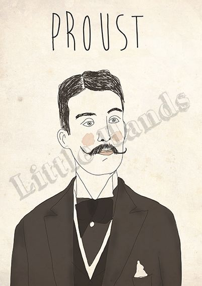 Proust  Digital Illustration  * Printed in recycled 300g paper   * Size A3 ( 42cm x 29.7cm ) - If you are looking for other size please get in touch!  * We are more than happy to create custom work, if you have a request please get in touch and we will do everything in our power to make your life/walls complete.