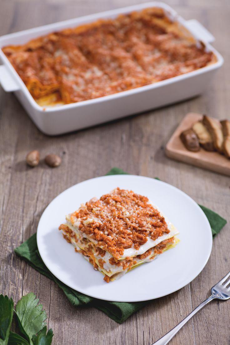Lasagne al ragù di seitan: vegetariani e non, questo meraviglioso piatto è per voi! [Lasagne with seitan sauce]