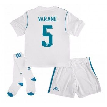 Real Madrid Raphael Varane 5 kläder Barn 17-18 Hemmatröja Kortärmad  #Billiga #fotbollströjor