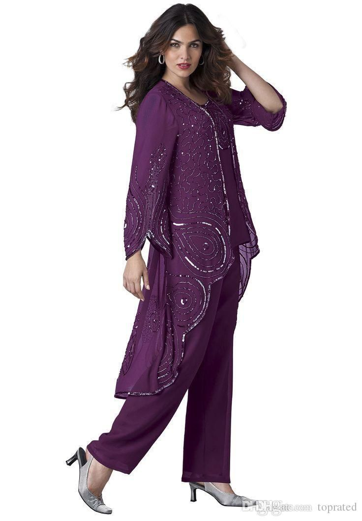 Wholesale mathar son,mother of the groom suitand police officer mom are for sale on DHgate.com. toprated recommends  2016 plus size 3 pieces mother of the bride pants suits sequins long sleeves chiffon with jacket formal evening dress custom made of high quality and low price.