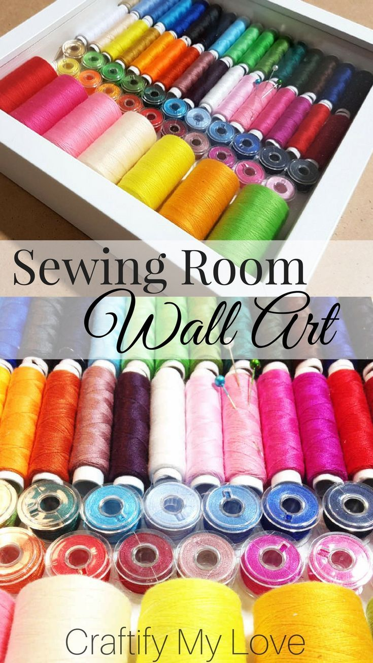 Sewing Room Wall Art / Craft Room Decor in 3d