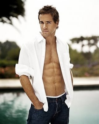 Ryan Reynolds...<3... everyone women needs a little eye candy just to remember how much their loving spouse is much better then the looks....