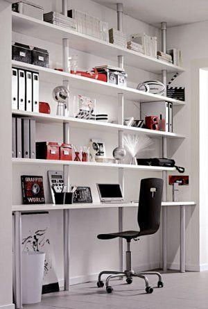 Bookshelves computer desk