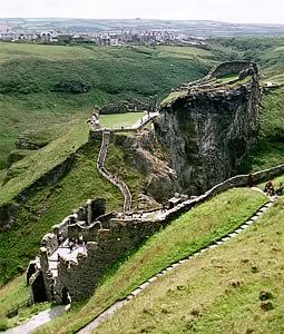 Tintagel Castle ~ South West England Tintagel, Cornwall - The headland has been linked with the tales of King Arthur since 1136.....