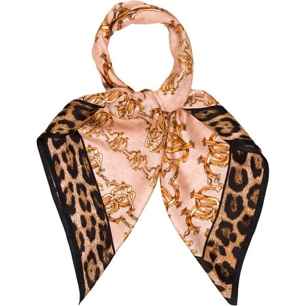 Pre-owned Roberto Cavalli Printed Silk Scarf ($85) ❤ liked on Polyvore featuring accessories, scarves, brown, pure silk scarves, brown shawl, roberto cavalli, multi colored scarves and colorful scarves