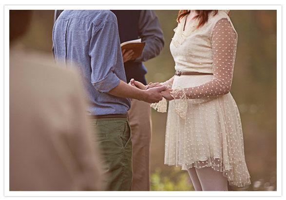 Vintage short casual wedding dressInformation Doren, Romantic Loveliness