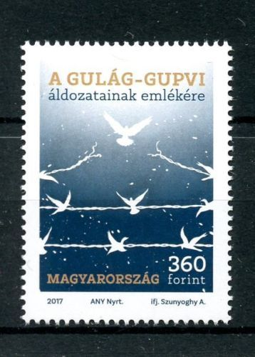 Hungary-2017-MNH-In-Memory-of-Gulag-GUPVI-Victims-1v-Set-War-Doves-Birds-Stamps