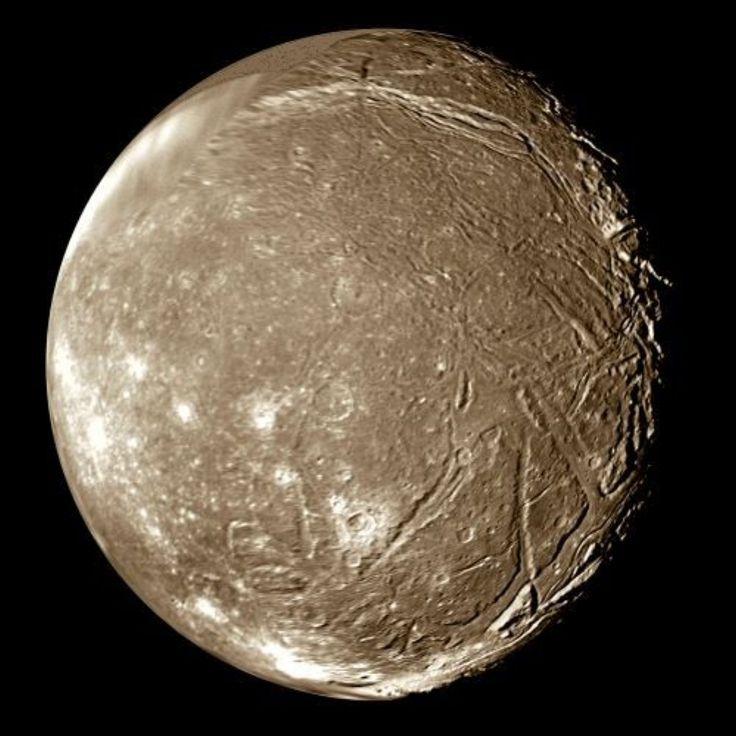 Ariel Moon | Uranus moon Ariel has a mean radius of 578.9 ± 0.6 km. Its interior ...