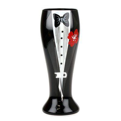 Red Barrel Studio Buster Painted Bachelor 24 oz. Pilsner Beer Glass