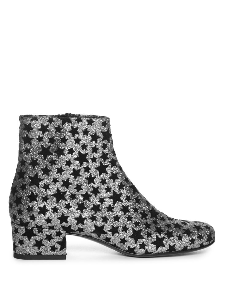 Babies star-embellished glitter ankle boots  | Saint Laurent | MATCHESFASHION.COM US