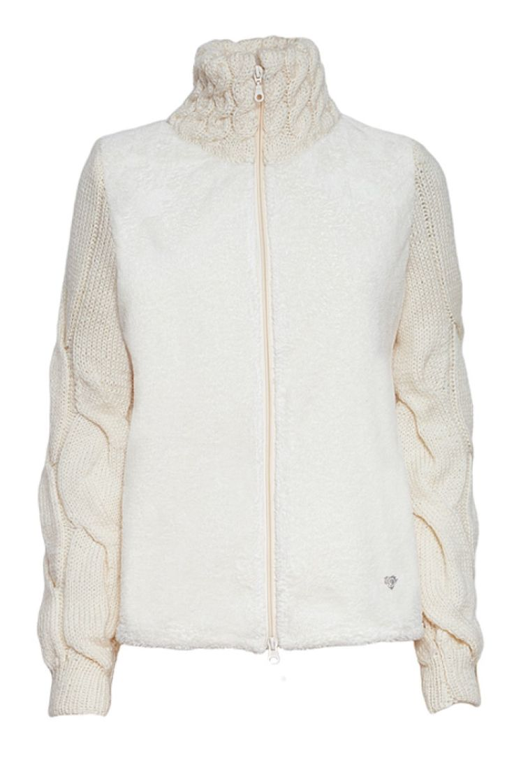 faux fur jacket cream