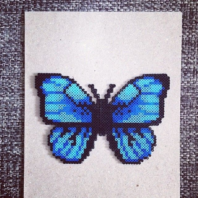 Butterfly hama mini beads by sabrinakrainer