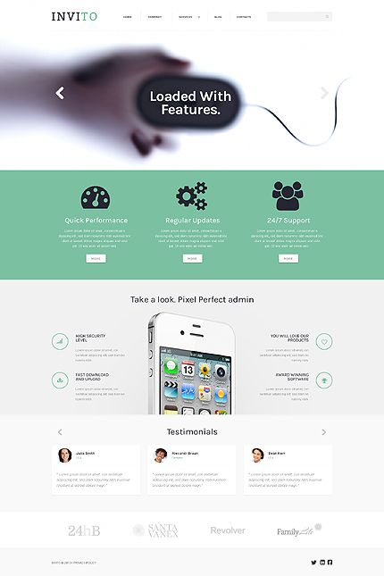 #Wordpress #ResponsiveDesign Theme for #AppStore or #Software Company. $75 and packed with features!