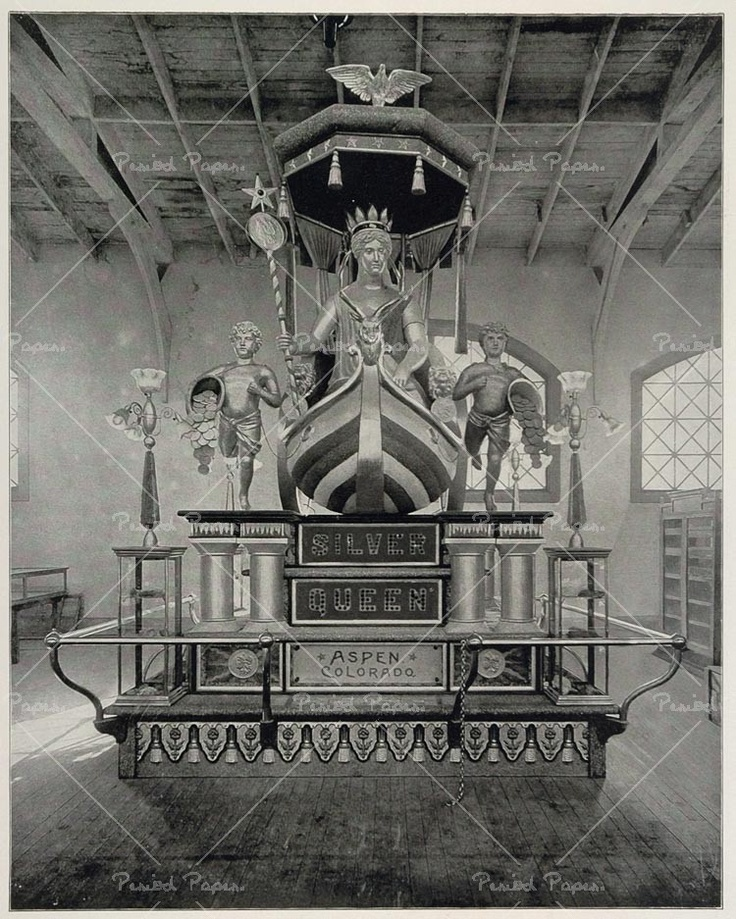 "The ""Silver Queen"" an 18-foot-tall statue was constructed by the city of Aspen for display at the World's Columbian Exposition, better known as the 1893 Chicago World's Fair, but was never returned."