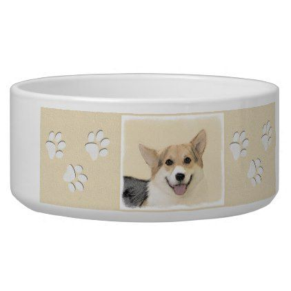 #Pembroke Welsh Corgi Bowl - #pembroke #welsh #corgi #puppy #dog #dogs #pet #pets #cute #pembrokewelshcorgi